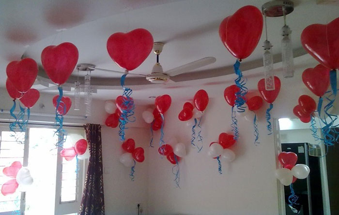 Photogallery balloon decorators in mumbai balloon for Balloon decoration at home
